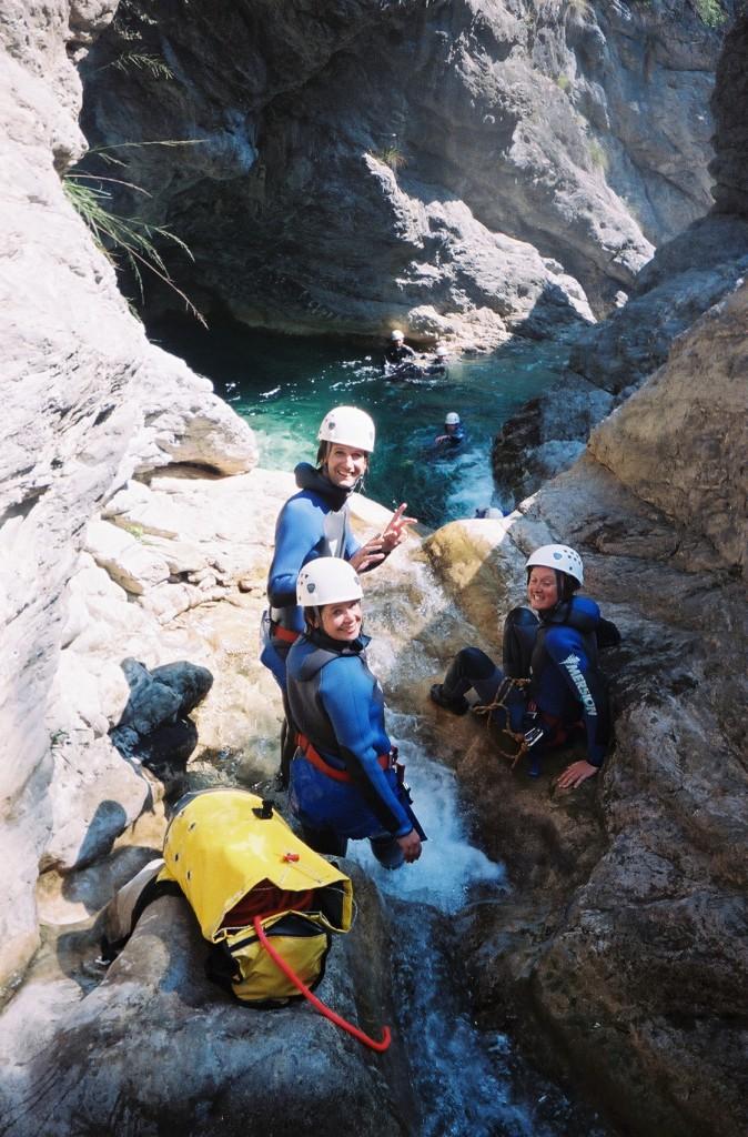 Dans le premier encaissement de Barbaira, top canyoning 06