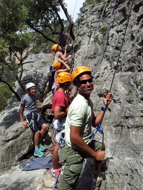 team building, escalade, rappel