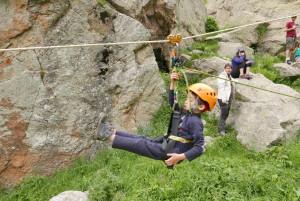 escalade et tyrolienne dans la vallée de la Gordolasque