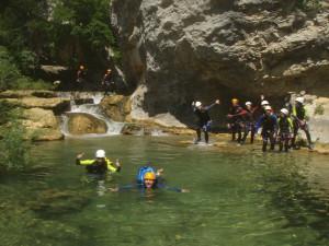 canyoning de la Siagne de la pare