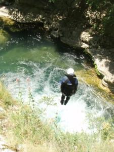 canyoning Fréjus/St raphaël, saut canyoning