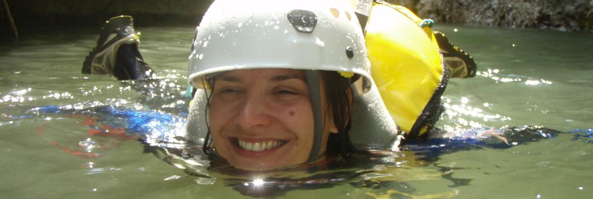 canyoning à la nage