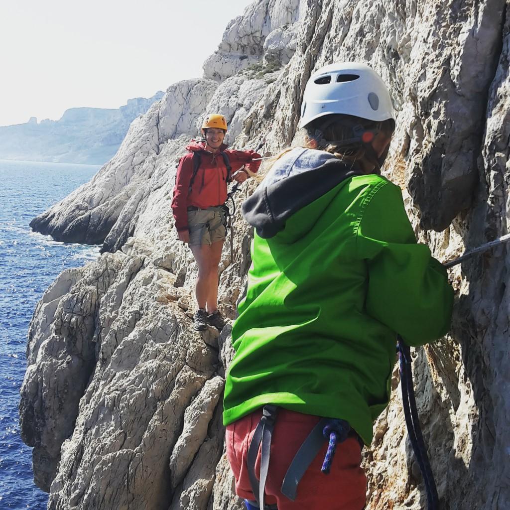 Au Bec, passage technique au dessus de la mer