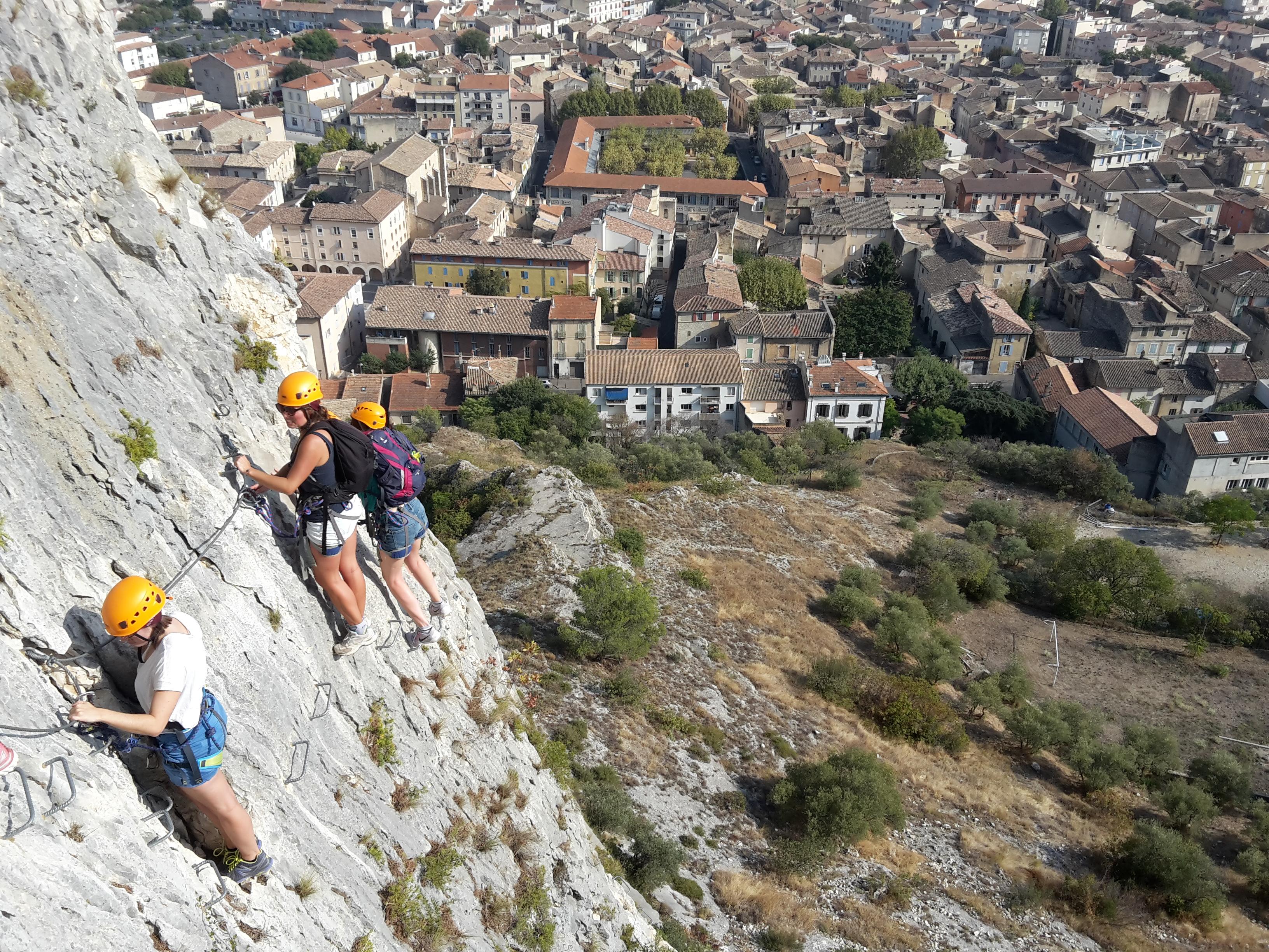 Via ferrata près d'Aix en Provence
